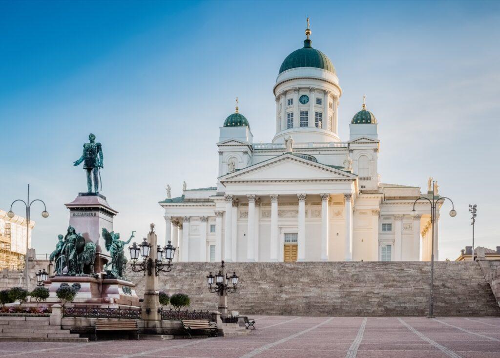 Senate Square in Helsinki, Finland.
