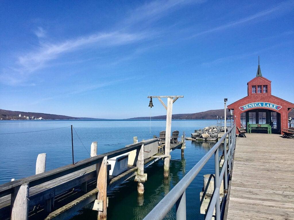 Seneca Lake near Watkins Glen, New York.