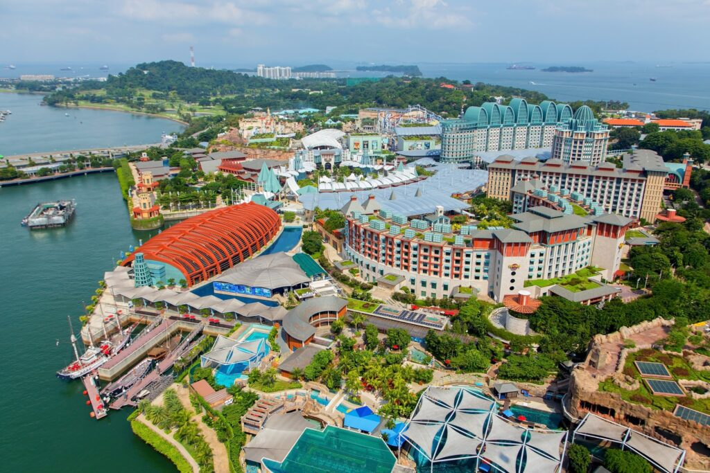 Sentosa Island in Singapore.