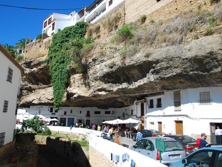 Setenil de las Bodegas, Spain, houses under the rocks