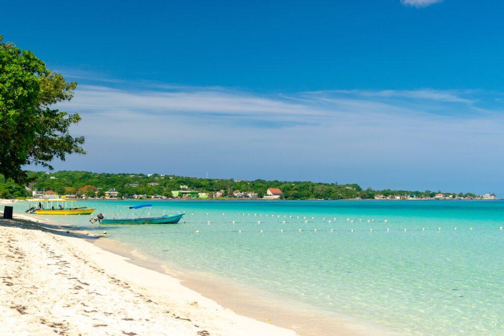 Seven Mile Beach in Negril, Jamaica.