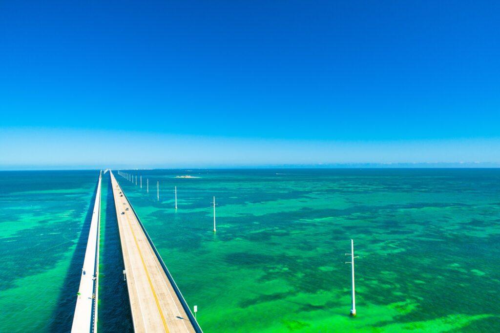 Seven Mile Bridge in Marathon, Florida.