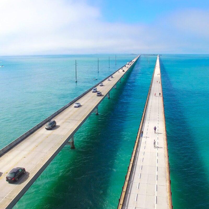 Seven Miles Bridge in the West.