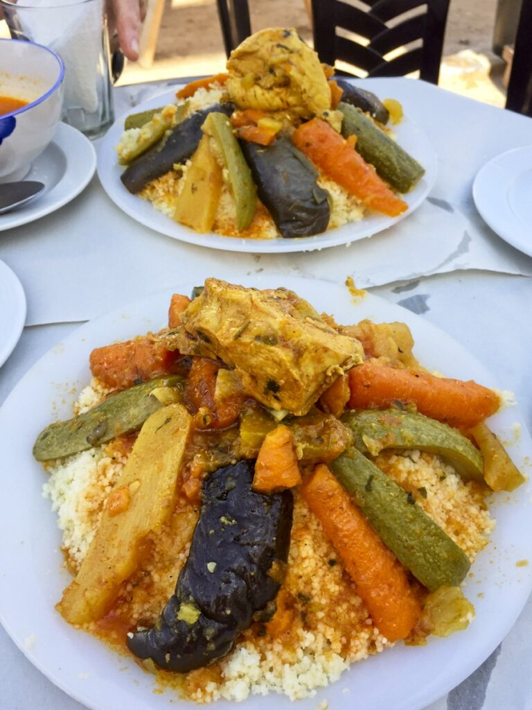 Seven vegetable couscous from Morocco.