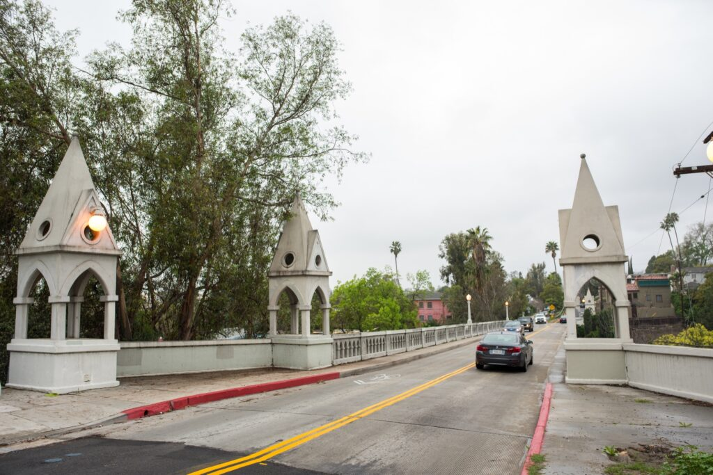 Shakespeare Bridge in Los Angeles.