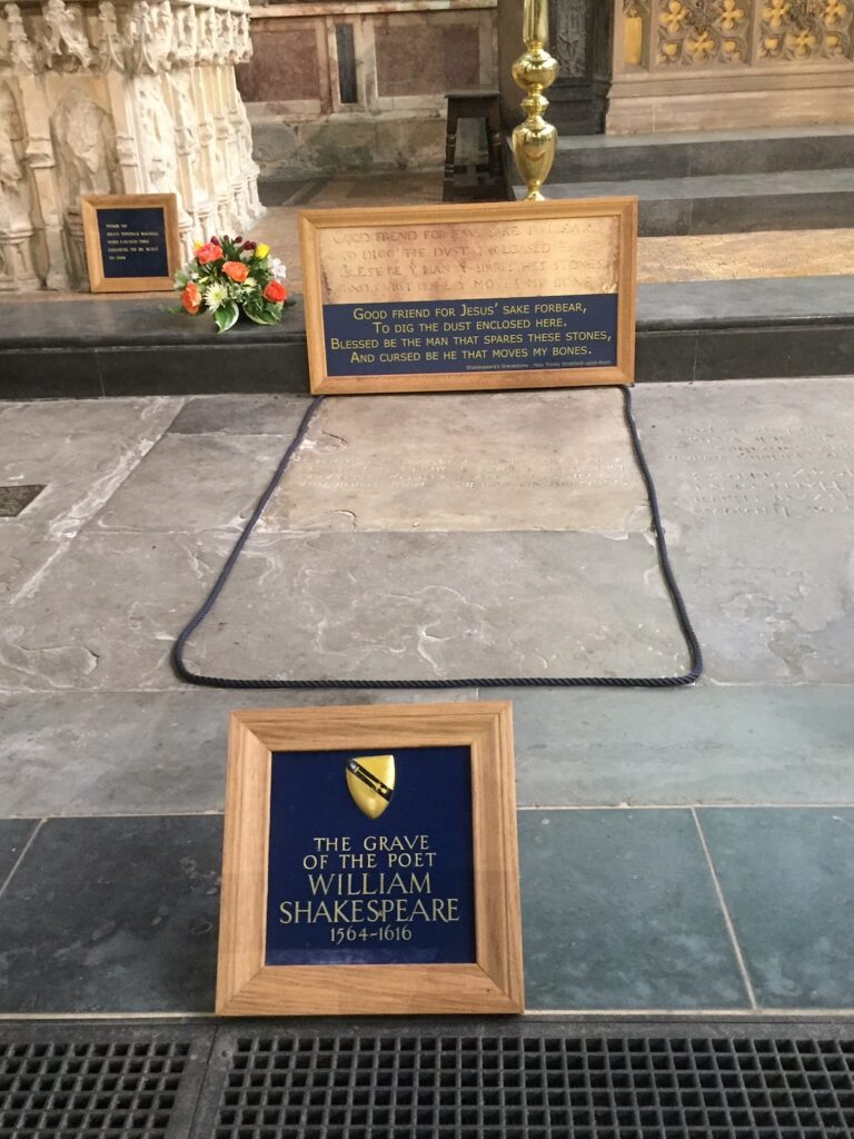 Shakespeare's grave at Holy Trinity Church.