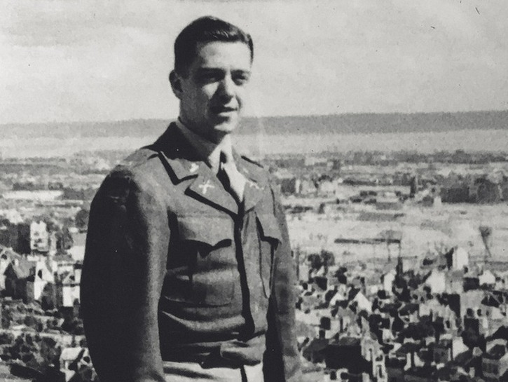 Sharon's father in uniform