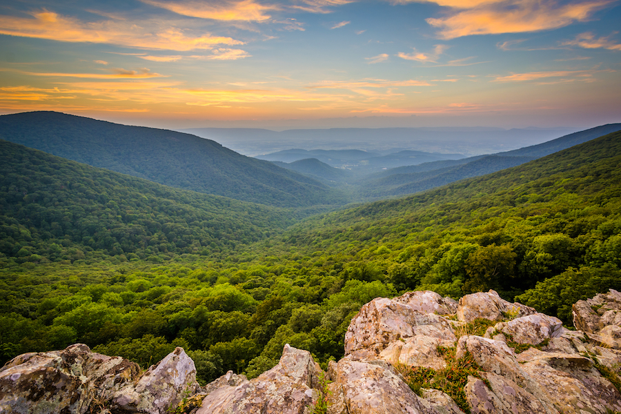 Shenandoah National Park in Virginia.