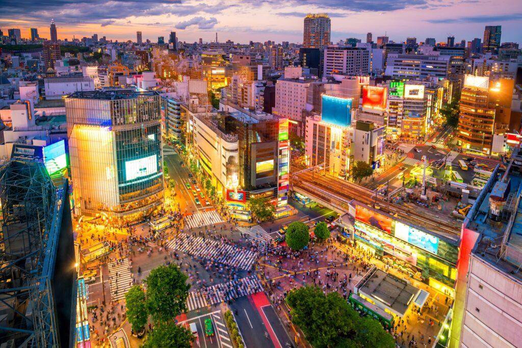 Shibuya Crossing in Tokyo, Japan.
