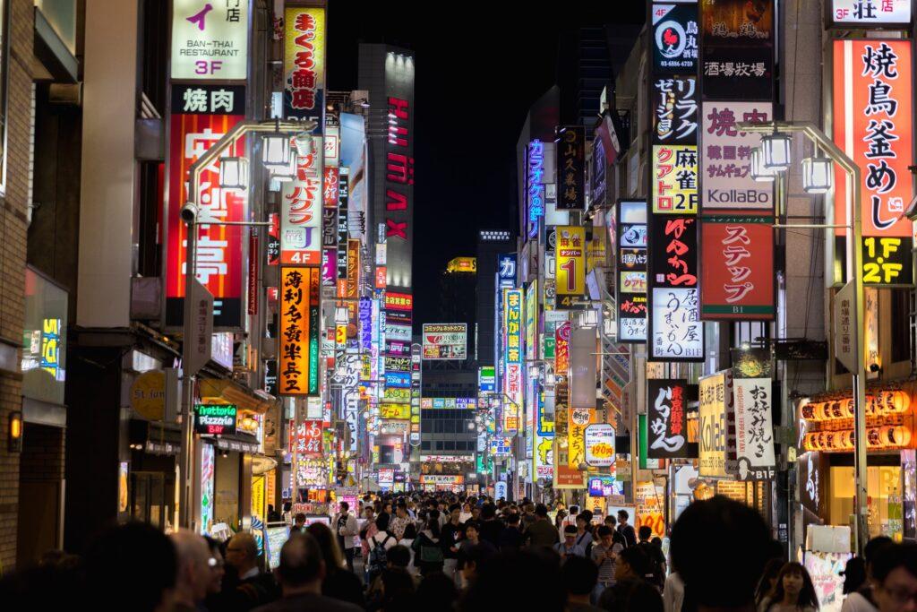 Shinjuku nightlife in Tokyo, Japan