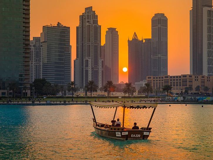 Ship in Dubai harbor
