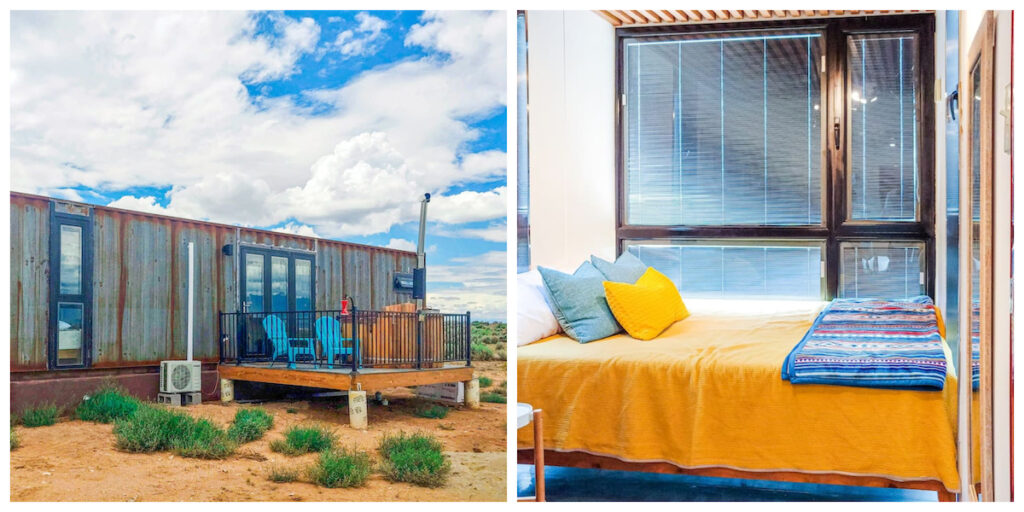 Shipping Container Home in El Prado, New Mexico.