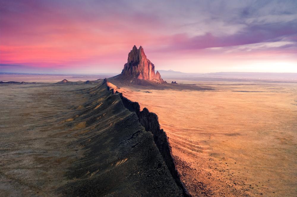 Shiprock in the Navajo nation.