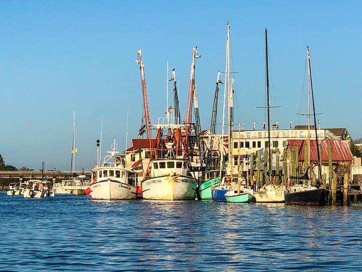 Ships docked Charleston SC