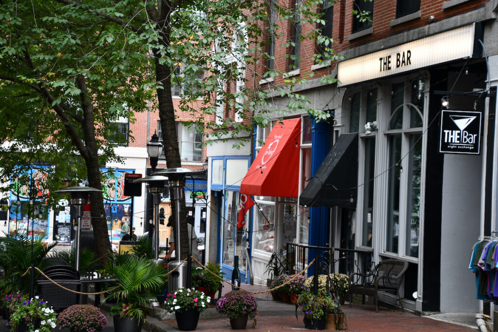 Shopping in Portland, Maine.