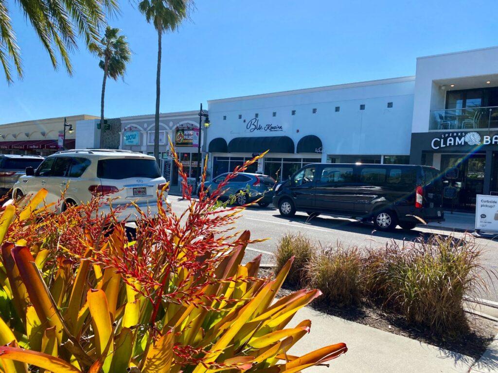 Shops at St. Armand's Circle in Sarasota, Florida.