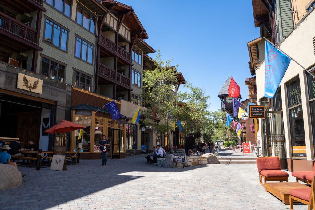 Shops at the Village at Mammoth.