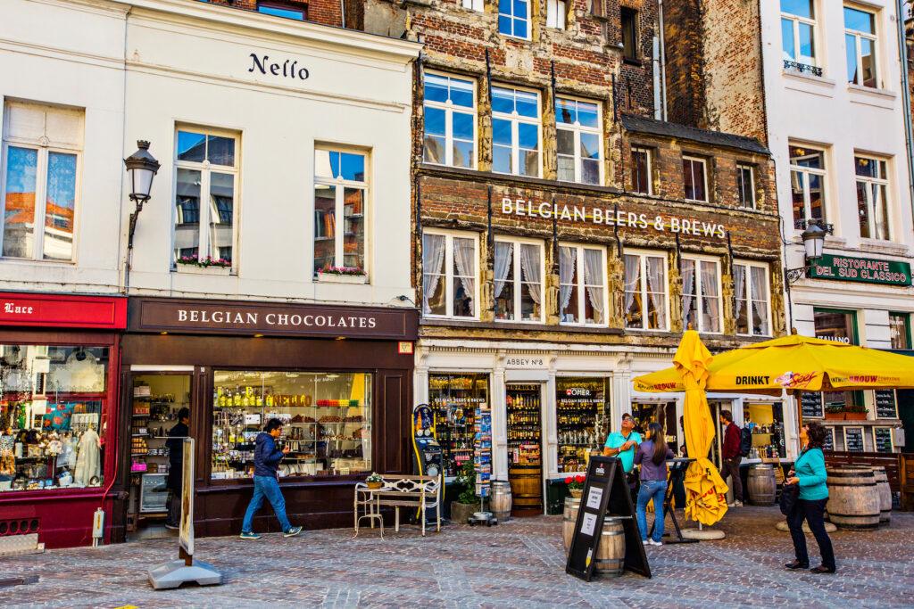 Shops in Antwerp, Belgium.