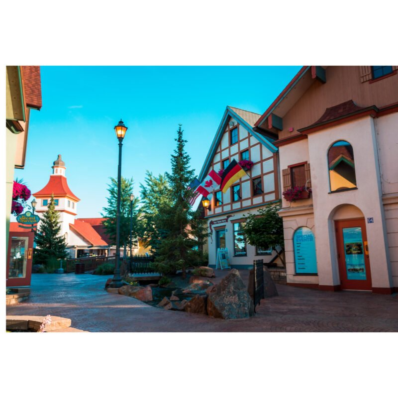 Shops in downtown Frankenmuth, Michigan.