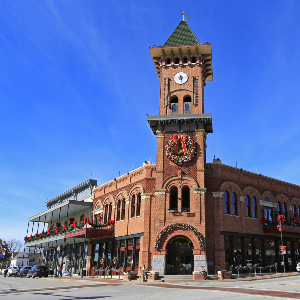 Shops in downtown Grapevine, Texas.