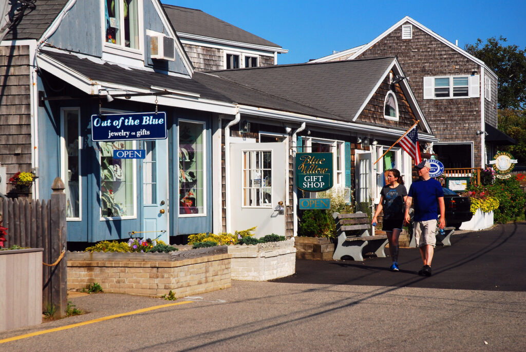 Shops in downtown Ogunquit, Maine.