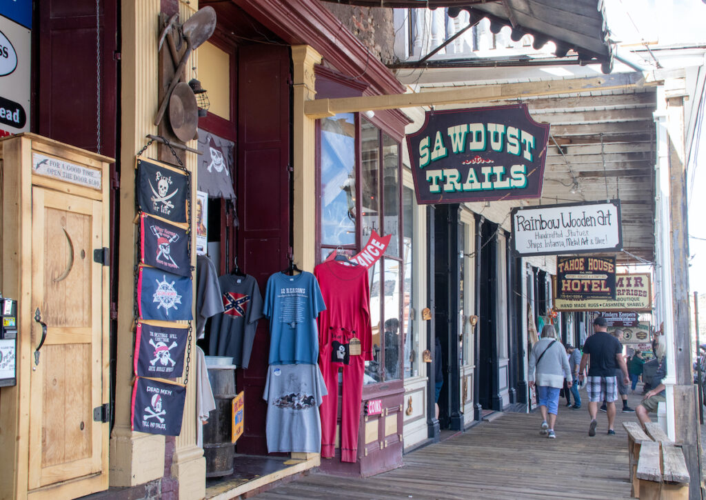 Shops in downtown Virginia City, Nevada.