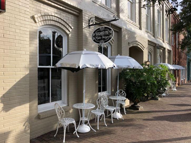 Shops in historic downtown Edenton, North Carolina.