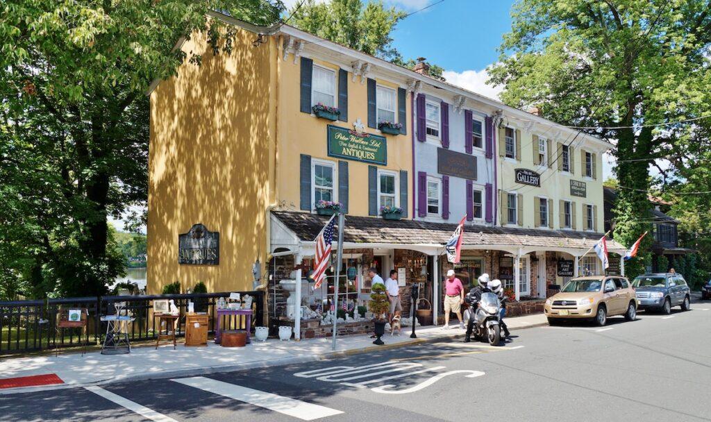 Shops in Lambertville, New Jersey.