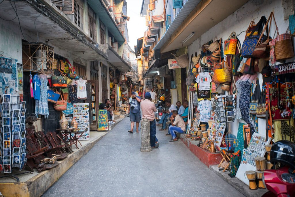 Shops in Stone Town, Zanzibar.