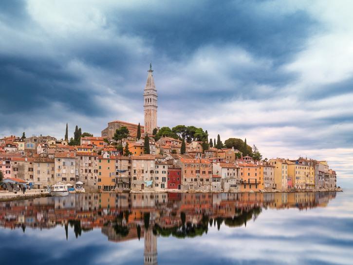 Shoreline of Rovinj, Croatia.