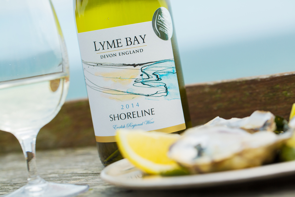 Shoreline wine from Lyme Bay Winery.