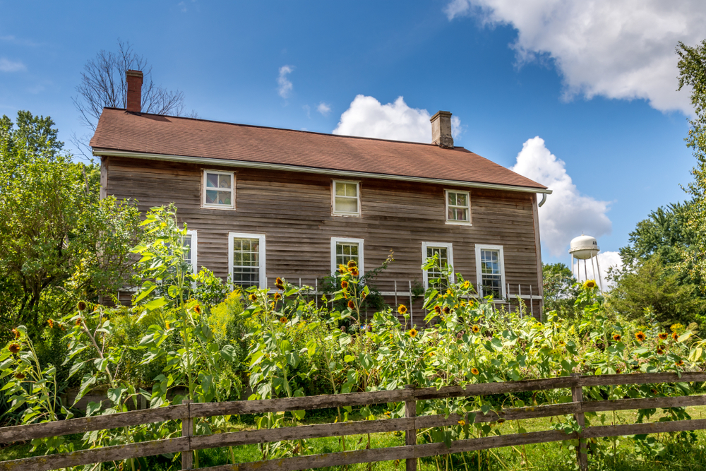 Historic homes located in Amana Colonies in Iowa.