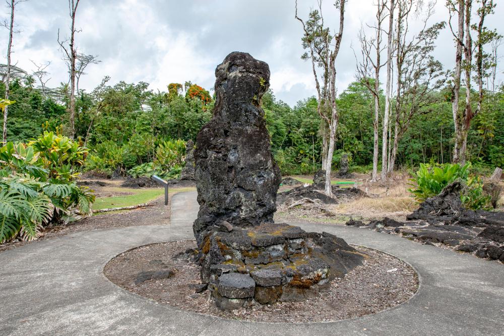 Lava Tree State Monument, Hawaii.