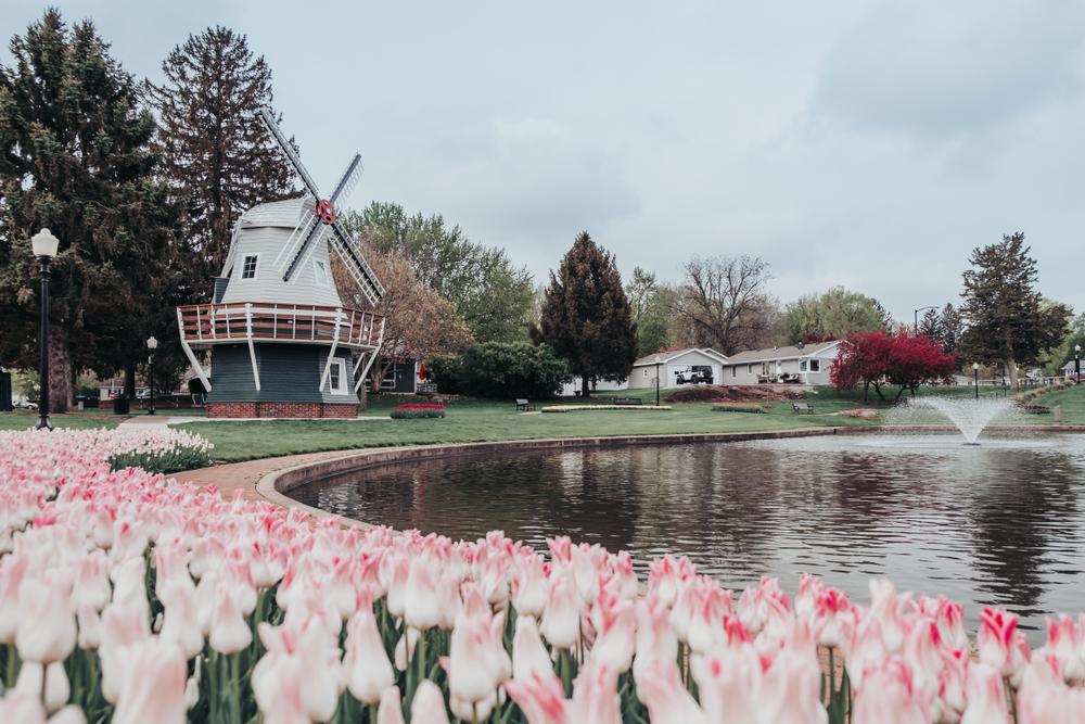 Sunken Gardens Park in Pella, Iowa.