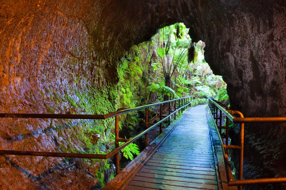 Entrance to Thurston Lava Tube in Hawaii Volcanoes National Park.