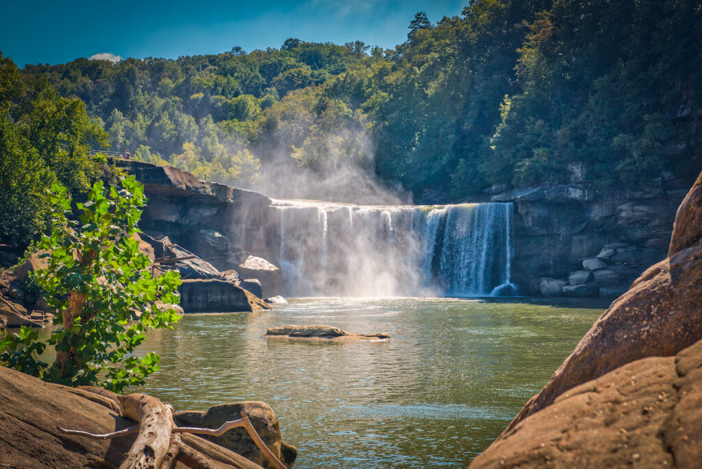 Cumberland Falls in Kentucky.