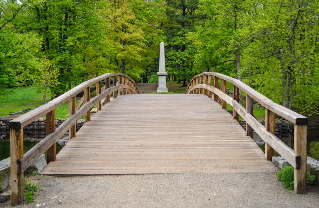A bridge in Minute Man Park.