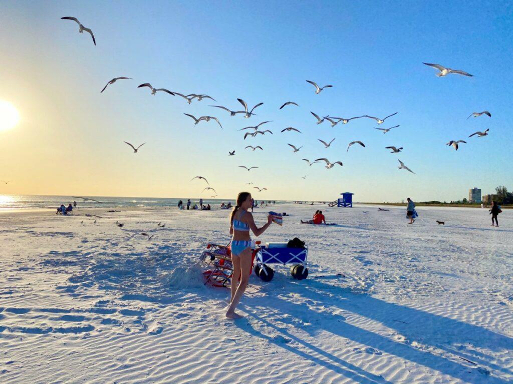 Siesta Key Beach in Sarasota, Florida.