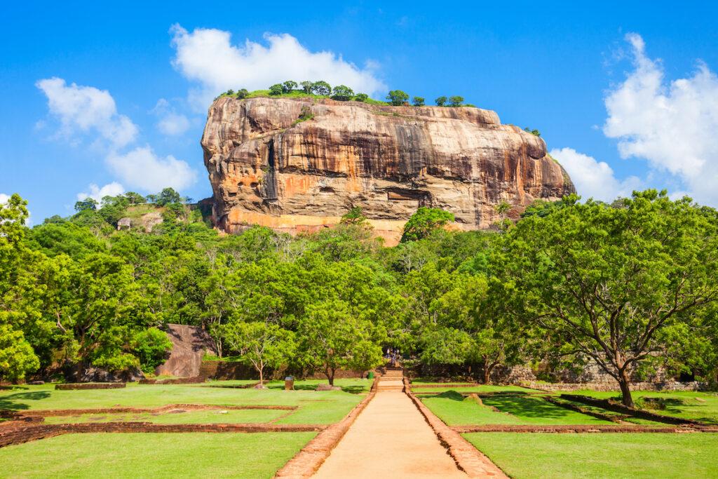 Sigiriya Rock in Sri Lanka.