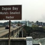 Sign for Depot Bay, Oregon.