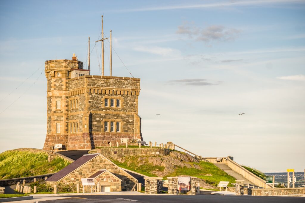 Signal Hill National Historic Site in Newfoundland.