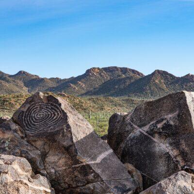 Signal Hill Petroglyph Area, Marana, Arizona.