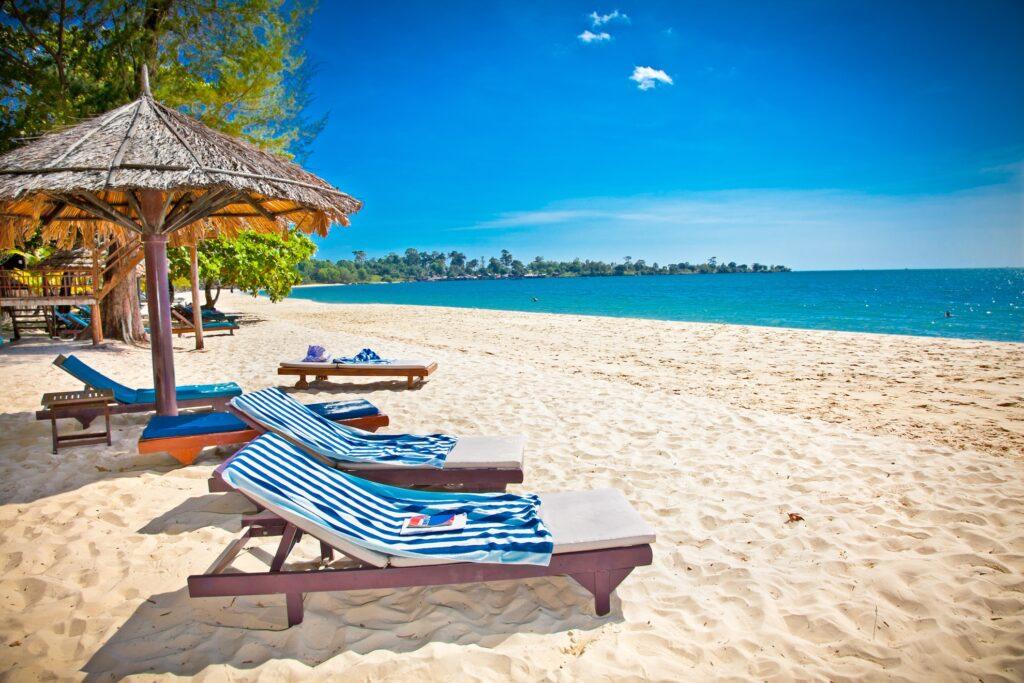 Sihanoukville beach in Cambodia.