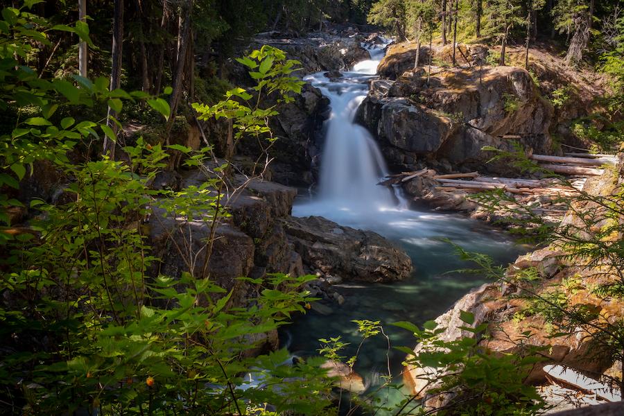 Silver Falls in Mount Rainier National Park.