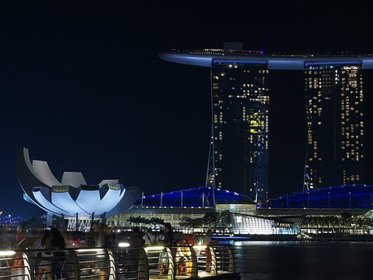 Singapore resort at night