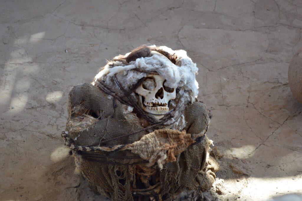 Skeleton remains in Peru.