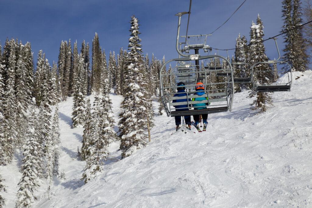 Ski lift, Brundage Mountain, Idaho.
