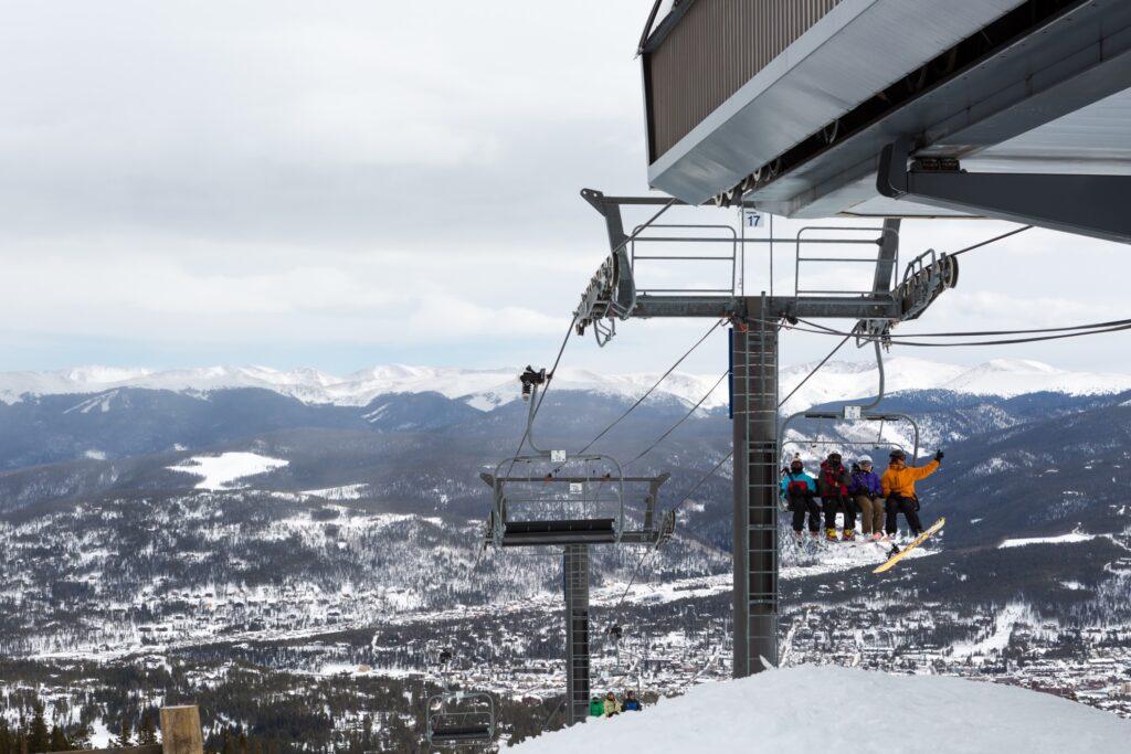 Ski lift in Breckenridge, Colorado.