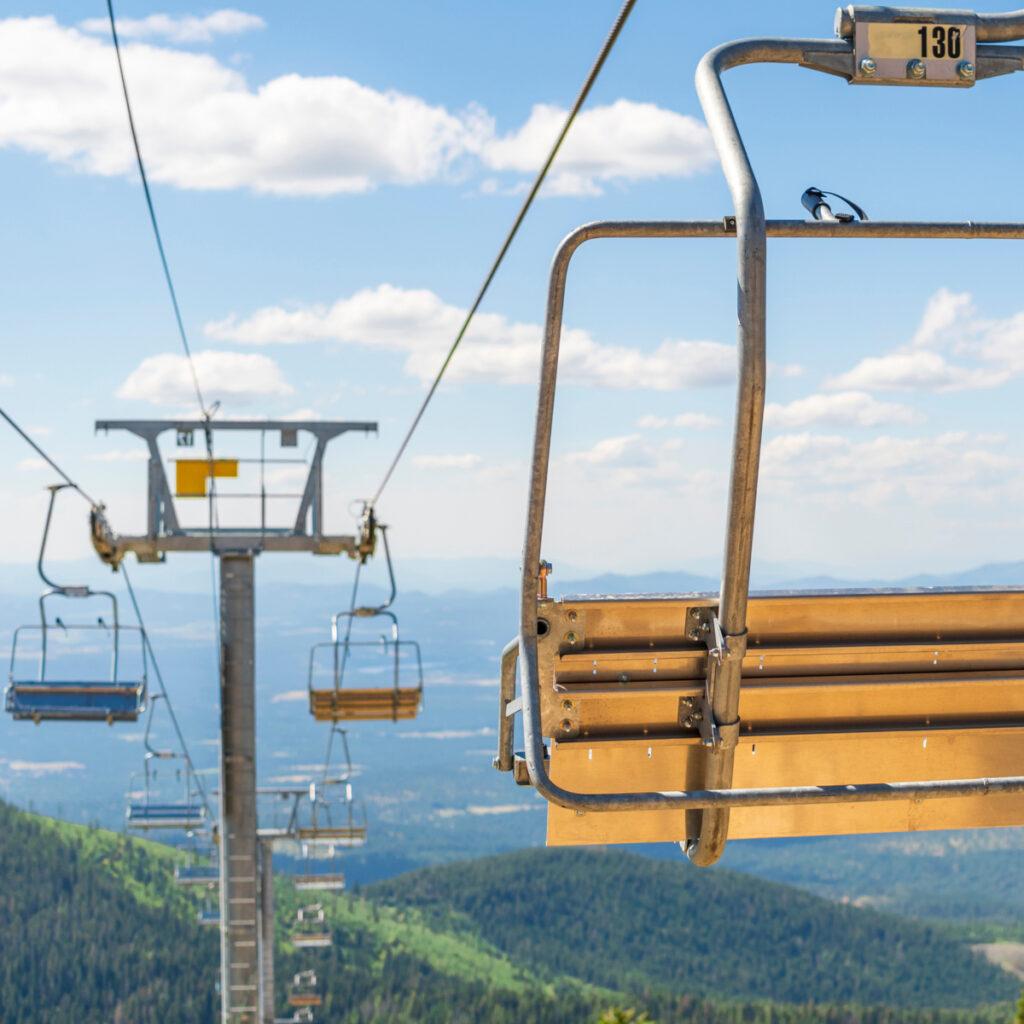 Ski lifts at Mt. Spokane in Washington.