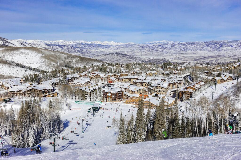 Ski resort views near Salt Lake City, Utah.